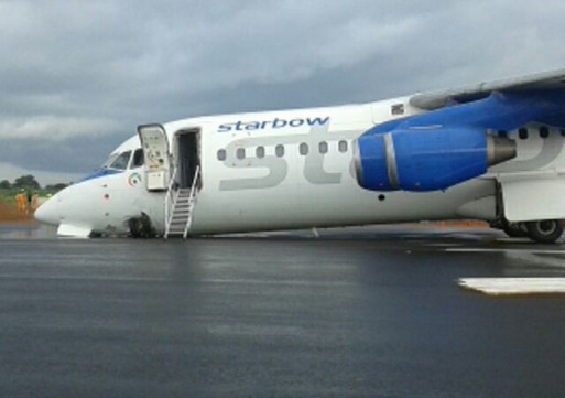 Starbow airline crash lands in Tamale