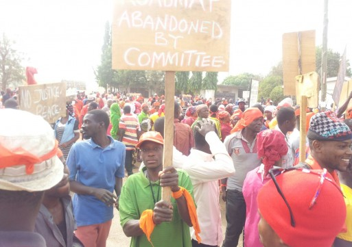 Abudus demonstrate over delay in the performance of funeral of late Chief