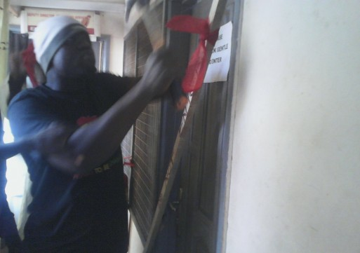 Tamale West  Hospital administrator locked out of office.