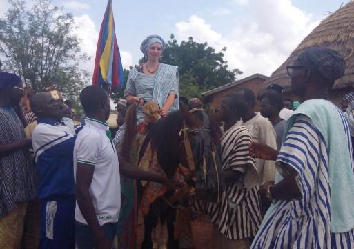 British Volunteer enskinned chief at Yoggu