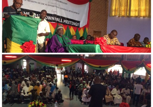 At the first town-hall meeting in Tamale, residents quiz city leaders on a variety of issues.