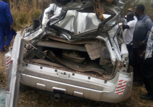 Zabzugu MP escapes death after his car somersaulted 3 times