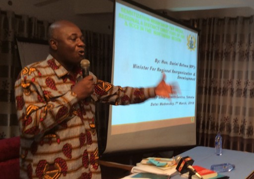 No ethnic head  will loose its authority over the creation of new regions-Dan Botwe