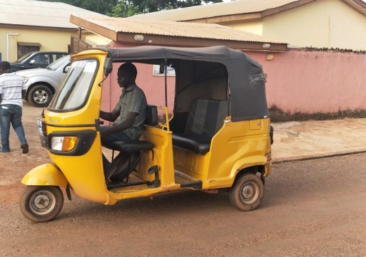 Two Young Men Escape Mob Justice Over Theft Of Tricycle.